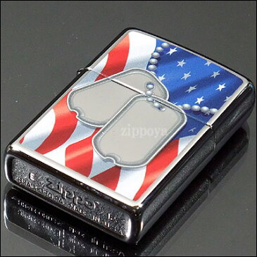 【ZIPPO】ジッポ/ジッポー FLAG AND DOG TAGS ドッグタグ アメリカ国旗 ハイポリッシュ 鏡面加工 28291