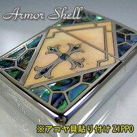 ZippoダイアノシルバーARMORSHELL十字架(クロス)ジッポーSHELL-CRS