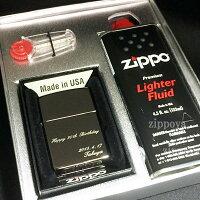 zippo名入れ世界で1つのオリジナルジッポー!(人気のジッポーに文字を彫刻したギフトセット【A】)【楽ギフ_名入れ】