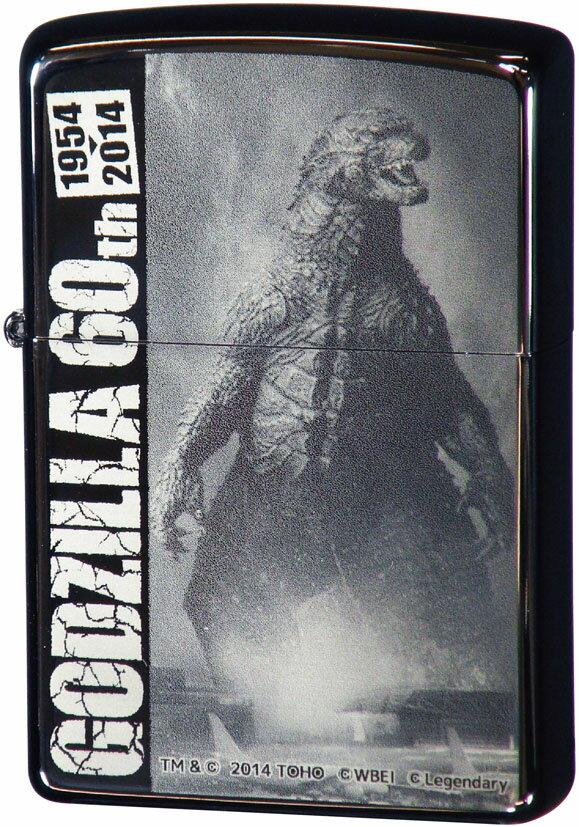 GODZILLA 60th ゴジラ 60周年記念 ハリウッドB ◆ZIPPO ジッポー オイル ライター 喫煙具画像