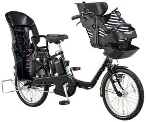 【送料無料!防犯登録無料!傷害保険無料!】【おまけ3点セット付き!】3人乗り対応車!【2015年モデル】パナソニックGyuttominiDX(ギュット・ミニ・DX)子供乗せ電動自転車(BE-ELMD03)