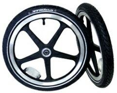 """【2013年モデル】ストライダLT用前後ホイールセット<ブラック>(STRIDALT16""""WheelSets)(ST-WS-003)"""