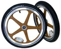 """【2013年モデル】ストライダLT用前後ホイールセット<クリーム>(STRIDALT16""""WheelSets)(ST-WS-004)"""