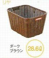 【YAMAHAPAS専用後ろカゴ】ヤマハパス専用自転車用固定式大型籐風リヤバスケット