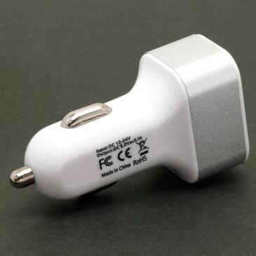 シガーソケット 黒 USB ポート 3口 5V 5.1A iPhone iPad