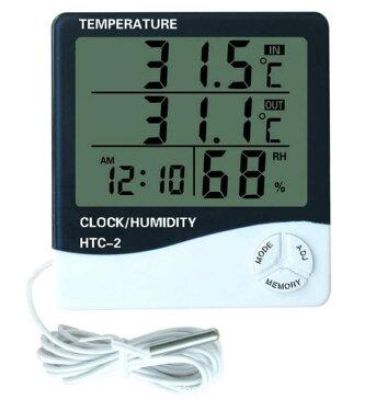 デジタルLCD 温度計 湿度計 屋内 屋外 室内 外気 目覚まし時計