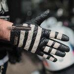 【送料無料】プレゼントにも♪本革レザー囚人グローブ手袋しましまボーダーメンズおしゃれ人気革ツーリングバイクバイカーカスタムワークスゾンCUSTOMWORKSZON