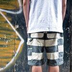 【送料無料】PROVIDER(プロバイダー)囚人ハーフパンツボーダー柄メンズ白黒しましまズボンprisoner男性用おしゃれバイカーカスタムワークスゾンCUSTOMWORKSZON半パン