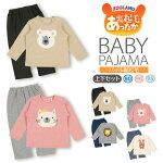 【冬★新作】子供服<パジャマ上下セット>アニマル裏起毛トレーナーパジャマ