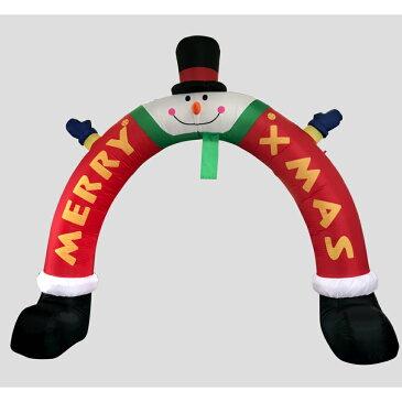 【エアーディスプレイアーチ スノーマンレッグ】クリスマス エアーバルーン エアーブロー 雪だるま メリークリスマス デコレーション 電飾 LEDライト イベント 店舗