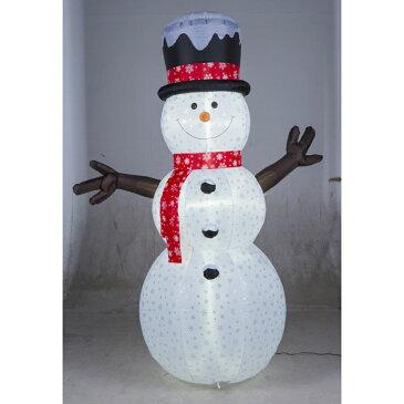【エアーディスプレイ スノーフレークスノーマン240cm】 クリスマス エアーブロー エアバルーン スノーマン 雪だるま スノーフレーク 店舗 イベント 販促 アイキャッチ 冬