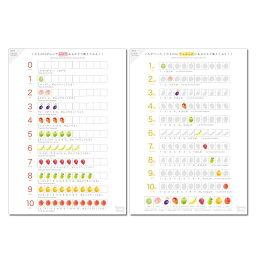 算数ポスター かず1(あつまり・じゅんばん)2枚セット A3 学習ポスター 英語あり