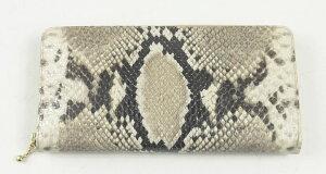 【日本製】【本革】ロングウォレット長財布パイソンヘビ型押し【送料無料】