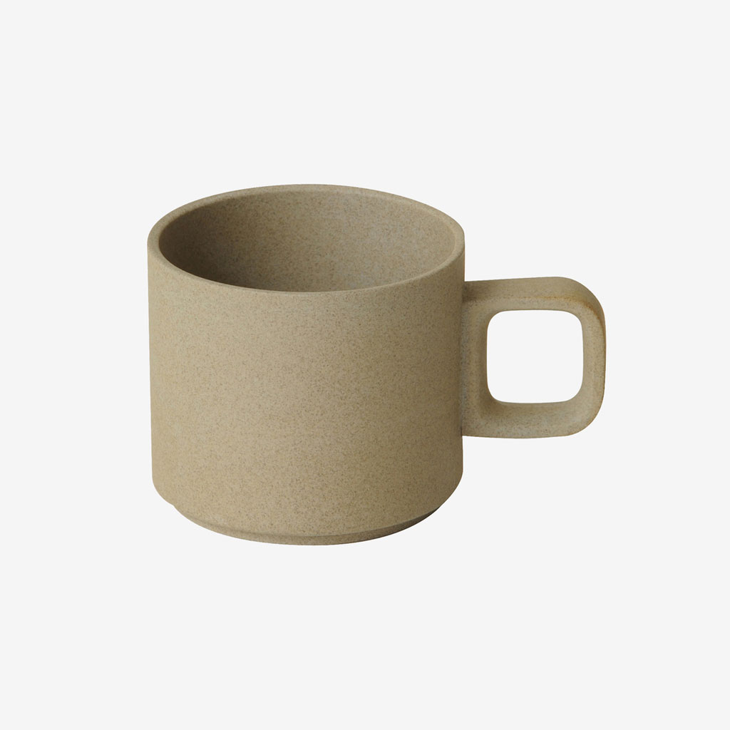Hasami Porcelain ハサミポーセリン HP019 Mug Cup 85 mm Small Natural 波佐見焼 茶 ベージュ ナチュラル 素焼き マット 艶無し 艶消し シンプル 映え 磁器 スタッキング 収納 新築 マグカップ ギフト プレゼント 8.5cm