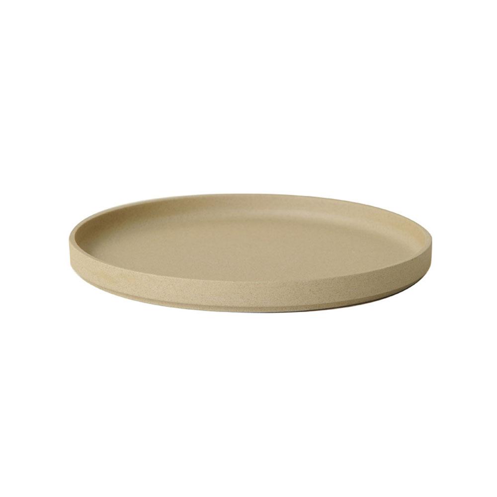 Hasami Porcelain ハサミポーセリン HP004 Plate 220 mm Natural 波佐見焼 茶 磁器 スタッキング 収納 新築 皿 プレート ギフト プレゼントポイント消化
