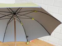 【送料無料】【cocca】晴雨兼用傘傘日傘UVカットギフトshima-umaイエロー×グレー