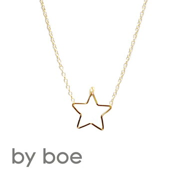 ≪by boe≫ バイ・ボー星スターモチーフ ゴールド チェーンネックレス Delicate Star Necklace (Gold)【レディース】