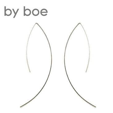 【今だけシルバーアクセ10%OFF!!】【再入荷】≪by boe≫ バイ・ボースレッダーカーブ シルバーピアス Wire Arc Earrings (Silver)【レディース】