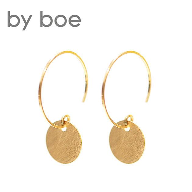 【再入荷】≪by boe≫ バイ・ボーサークル コイン フックピアス Coin Hoop Earrings (Gold)【レディース】