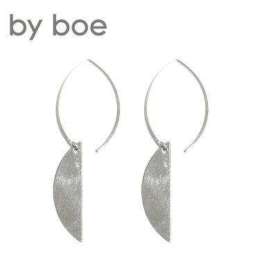 【待望の最新作】≪by boe≫ バイ・ボーハーフムーン カーブ シルバー フックピアス (Silver)【レディース】