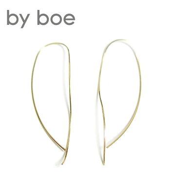 【待望の最新作】≪by boe≫ バイ・ボーゆるやか カーブ 曲線 ロング ピアス (Gold)【レディース】【楽ギフ_包装】