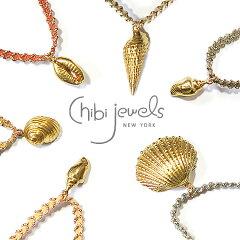5種類の貝がらチャーム×6色コード!【ELLE 雑誌掲載】≪chibi jewels≫ チビジュエルズ全30種...
