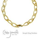 【待望の再入荷】≪chibi jewels≫ チビジュエルズ翼ウィングモチーフ ボリューム ゴールドネックレス Seraph Wing Necklace (Gold)【レディース】【楽ギフ_包装】【送料無料】