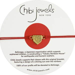 【東日本大震災 復興支援】【楽天ランキング1位獲得】≪chibi jewels≫ チビジュエルズチャリティー ブレスレット Ashinaga Dream Bracelet (Red/White)【レディース】【楽ギフ_包装】【RCP】