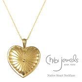 【CanCam 雑誌掲載】【GLITTER 雑誌掲載】【再入荷】≪chibi jewels≫ チビジュエルズボヘミアン ネイティブハート ロングネックレス Big Heart Necklaces (Gold)【レディース】【楽ギフ_包装】