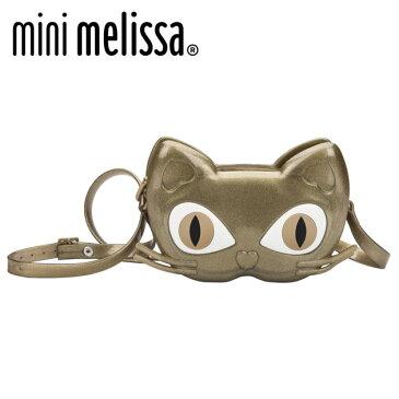 ≪mini melissa≫ ミニ・メリッサ 猫 ショルダー バッグ ボシェット グリッター ゴールド 水遊び ビーチ Mini Melissa Bag Cat Gold ベビー/キッズ/女の子/子供