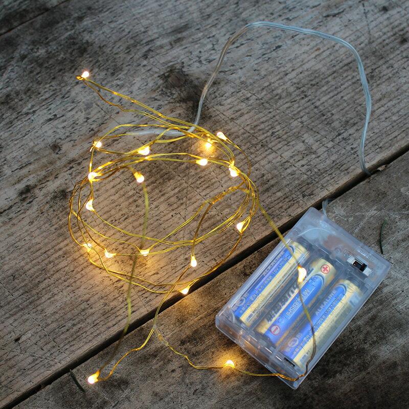 イルミネーション 電飾 飾り フェアリーライト ≪LED40球430cm≫40LED FAIRY LIGHTの写真