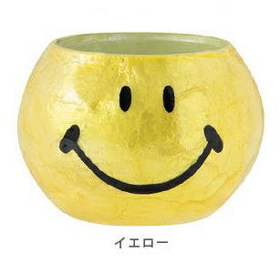スマイリーフェイスROUND GLASS PLANTER SMILEY FACE Mサイズの写真