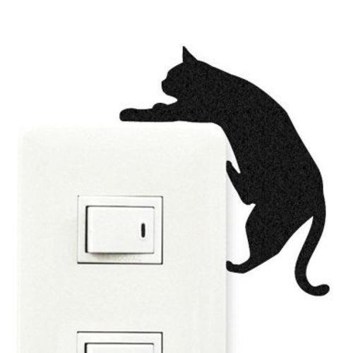 ウォールステッカー ウォールストーリー キャットライフ 5落ちそう(1枚入)