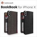 アイフォンx ケース Twelve South BookBofor iphoneX ビンテージブラウン TWS-PH-000054画像