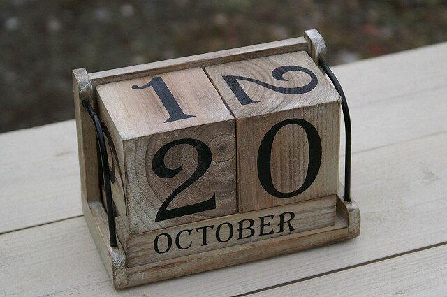 ポッシュリビング アンティークキューブカレンダー 40578の写真