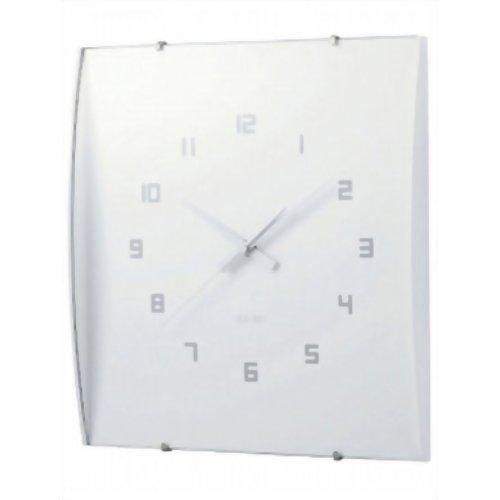 IDEA LABEL ウッドガラスクロック グランデ ホワイト LCW027-WH