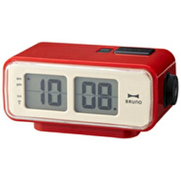 BRUNO LCDレトロアラームクロック S BCR003-RD