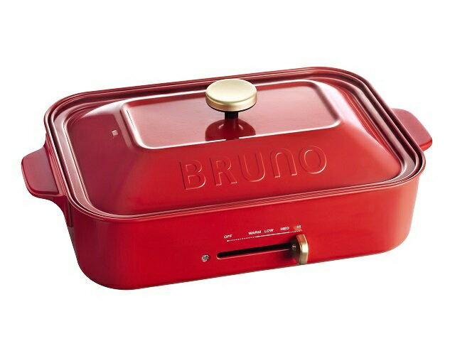 BRUNO コンパクトホットプレート レッド BOE021-RD(1台)の写真
