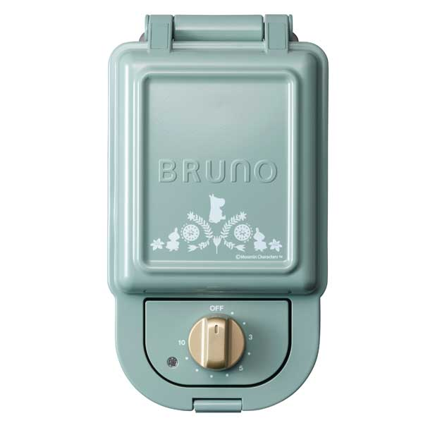 イデアインターナショナル BRUNO ブルーノ ムーミン ホットサンドメーカー シングル BOE050-BGR プレート取外し可能 一枚焼きの写真