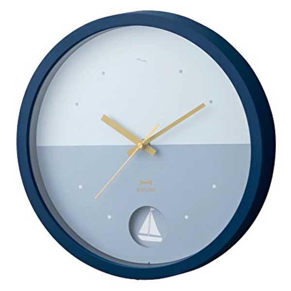 壁掛け時計 バイカラーウォールクロック BRUNO ブルーノ 振り子時計 ツートーン 2色使い