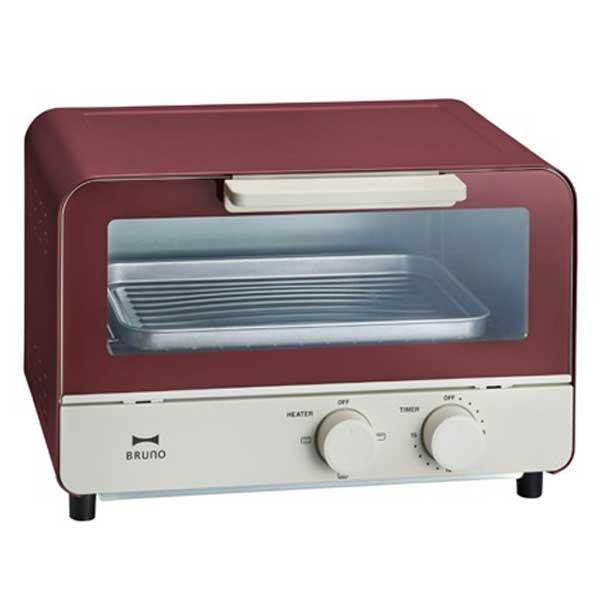 Bruno ブルーノ オーブントースター 2枚焼き おしゃれ 北欧 Boe052 (レッド)