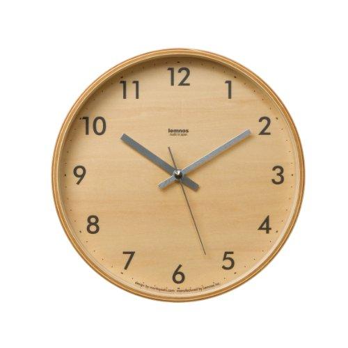 タカタレムノス Lemnos plywood clock LC04-05S グレー LC04-05S GY