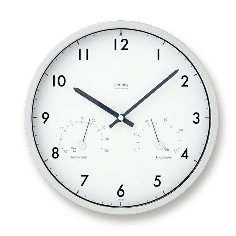 タカタレムノス Lemnos Air clock 電波時計 ブラウン LC09-11W BW