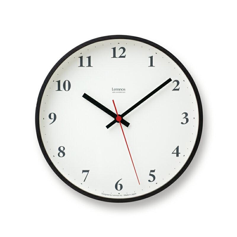 Lemnos Plywood clock 電波時計 ブラウン LC10-21W BWの写真