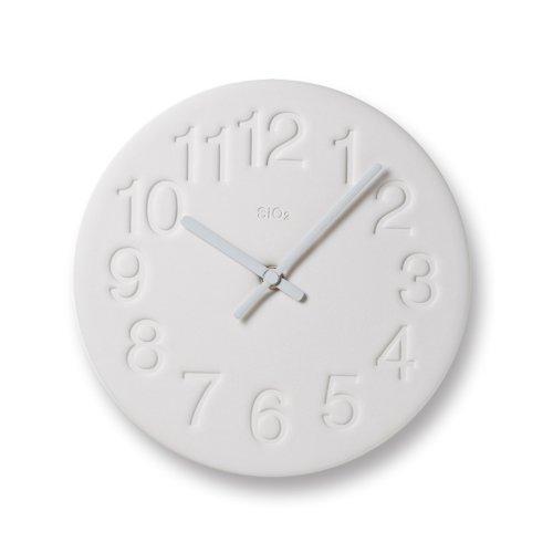 タカタレムノス Lemnos レムノス 「 珪藻土の時計 」 ホワイトの写真