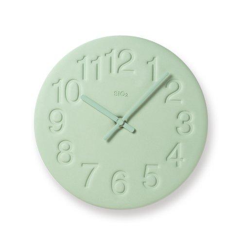 タカタレムノス Lemnos レムノス 「 珪藻土の時計 」 グリーン
