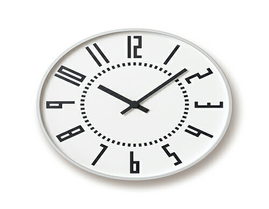 レムノス/Lemnos eki clock 壁掛け時計 TIL16-01 WH ホワイト