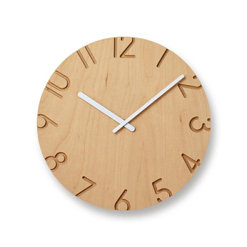 lemnos レムノス 掛け時計carvedwoodbirchカーヴドウッドバーチφ d  ntl16-05