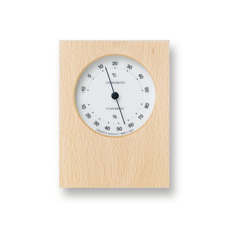 Lemnos DUO 温湿度計 ホワイト PTH10-23 WHの写真
