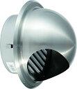 ワールド ステンレス 丸型フード付ガラリ WFGN-100 φ100 アミ無 H/L クリアー